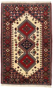 Yalameh Tappeto 83X135 Orientale Fatto A Mano Rosso Scuro/Beige Scuro (Lana, Persia/Iran)