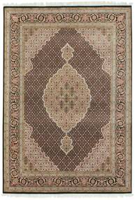 Tabriz Royal Rug 140X203 Authentic  Oriental Handknotted Light Brown/Light Grey ( India)
