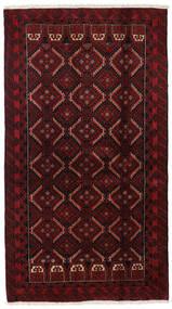 Beluch Matta 108X196 Äkta Orientalisk Handknuten Mörkröd (Ull, Persien/Iran)