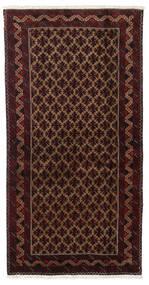 Beluch Matto 96X188 Itämainen Käsinsolmittu Tummanpunainen/Tummanruskea (Villa, Persia/Iran)