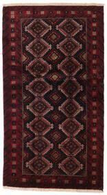 Beluch Matta 96X173 Äkta Orientalisk Handknuten Mörkbrun/Mörkröd (Ull, Persien/Iran)