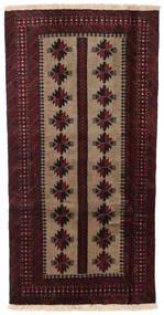 バルーチ 絨毯 85X166 オリエンタル 手織り 濃い茶色/深紅色の (ウール, ペルシャ/イラン)