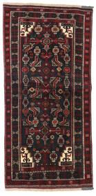 Beluch Matto 98X205 Itämainen Käsinsolmittu Musta/Tummanpunainen (Villa, Persia/Iran)