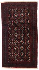 Beluch Matto 100X176 Itämainen Käsinsolmittu Tummanruskea/Tummanpunainen (Villa, Persia/Iran)