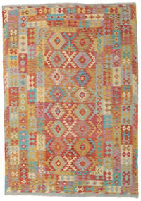 Kilim Afghan Old Style Tappeto 204X291 Orientale Tessuto A Mano (Lana, Afghanistan)