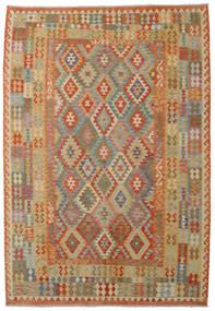 Kelim Afghan Old Style Matto 208X300 Itämainen Käsinkudottu Vaaleanruskea/Tummanbeige (Villa, Afganistan)