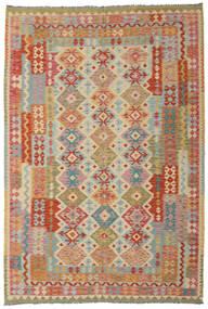 Kilim Afgan Old Style Dywan 201X294 Orientalny Tkany Ręcznie Jasnobrązowy/Ciemnoczerwony (Wełna, Afganistan)