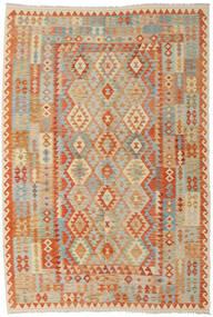 Kilim Afghan Old Style Rug 202X298 Authentic  Oriental Handwoven Dark Beige/Light Brown (Wool, Afghanistan)