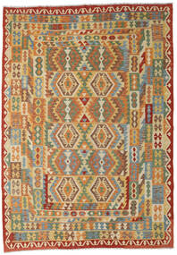 Kilim Afghan Old Style Tappeto 216X303 Orientale Tessuto A Mano (Lana, Afghanistan)