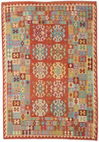 Kilim Afegão Old Style Tapete 205X298 Oriental Tecidos À Mão Laranja/Bege Escuro (Lã, Afeganistão)