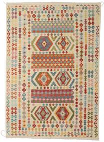 Kilim Afegão Old Style Tapete 208X304 Oriental Tecidos À Mão Bege/Bege Escuro (Lã, Afeganistão)