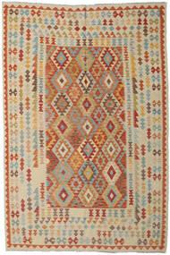 Kelim Afghan Old Style Matto 199X296 Itämainen Käsinkudottu Vaaleanruskea/Vaaleanharmaa (Villa, Afganistan)