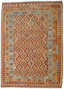 Kilim Afghan Old Style Rug 205X285 Authentic  Oriental Handwoven Dark Red/Brown (Wool, Afghanistan)