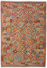 Kilim Afghan Old Style Rug 200X298 Authentic  Oriental Handwoven Dark Grey/Light Grey (Wool, Afghanistan)