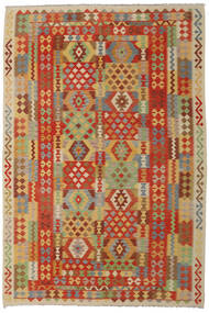 Kilim Afghan Old Style Tappeto 205X305 Orientale Tessuto A Mano Beige Scuro/Marrone (Lana, Afghanistan)