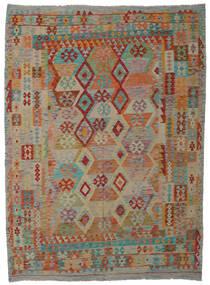 Kelim Afghan Old Style Teppe 210X288 Ekte Orientalsk Håndvevd (Ull, Afghanistan)