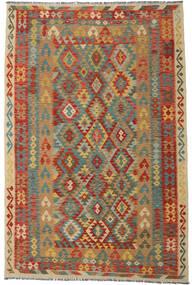 Kilim Afegão Old Style Tapete 202X306 Oriental Tecidos À Mão Castanho Claro/Bege Escuro (Lã, Afeganistão)