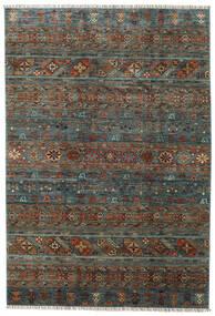 Shabargan Rug 203X297 Authentic  Modern Handknotted Dark Grey/Dark Brown (Wool, Afghanistan)