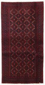 Belutsch Teppich  93X177 Echter Orientalischer Handgeknüpfter Dunkelrot (Wolle, Persien/Iran)
