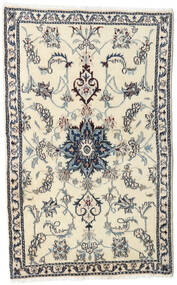Nain Tapete 90X143 Oriental Feito A Mão Bege/Cinzento Claro (Lã, Pérsia/Irão)
