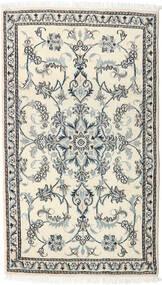 Nain Matto 86X149 Itämainen Käsinsolmittu Beige/Vaaleanharmaa (Villa, Persia/Iran)