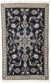 Nain Rug 88X143 Authentic  Oriental Handknotted Black/Light Grey (Wool, Persia/Iran)
