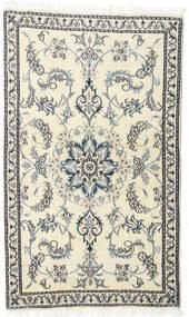 Nain Matto 86X145 Itämainen Käsinsolmittu Beige/Vaaleanharmaa (Villa, Persia/Iran)