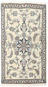 Nain Matta 81X147 Äkta Orientalisk Handknuten Beige/Ljusgrå (Ull, Persien/Iran)