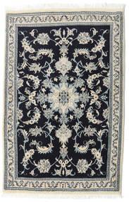 Nain Matto 90X139 Itämainen Käsinsolmittu Musta/Vaaleanharmaa (Villa, Persia/Iran)