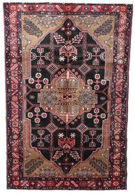 Hamadan Rug 150X242 Authentic  Oriental Handknotted Dark Red/Dark Brown (Wool, Persia/Iran)