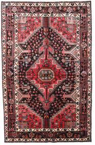 Toiserkan Matta 152X241 Äkta Orientalisk Handknuten Mörkbrun/Mörkröd (Ull, Persien/Iran)