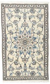 Nain Matta 90X147 Äkta Orientalisk Handknuten Beige/Ljusgrå/Mörkgrå (Ull, Persien/Iran)