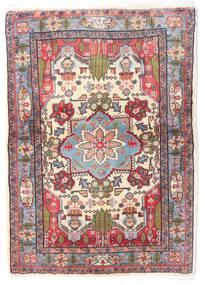 Sarough Tapis 98X135 D'orient Fait Main Marron Foncé/Rose Clair (Laine, Perse/Iran)