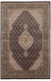 Tabriz Royal Rug 161X248 Authentic  Oriental Handknotted Dark Brown/Light Grey ( India)