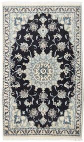 나인 러그 88X145 정품  오리엔탈 수제 다크 블루/베이지 (울, 페르시아/이란)