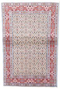 Moud Teppe 130X139 Ekte Orientalsk Håndknyttet Kvadratisk (Ull/Silke, Persia/Iran)