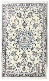 Nain Matta 88X140 Äkta Orientalisk Handknuten Vit/Cremefärgad/Beige/Ljusgrå (Ull, Persien/Iran)