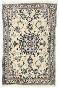Nain Teppe 92X140 Ekte Orientalsk Håndknyttet Beige/Mørk Grå (Ull, Persia/Iran)