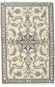 Nain Matta 90X140 Äkta Orientalisk Handknuten Beige/Ljusgrå (Ull, Persien/Iran)