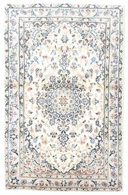 Kashan Tapis 91X143 D'orient Fait Main Blanc/Crème/Gris Clair (Laine, Perse/Iran)