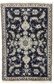 Nain Teppich  87X135 Echter Orientalischer Handgeknüpfter Schwartz/Hellgrau (Wolle, Persien/Iran)