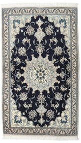 Nain Matta 90X152 Äkta Orientalisk Handknuten Svart/Mörkgrå (Ull, Persien/Iran)