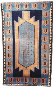 Nahavand Matta 77X131 Äkta Orientalisk Handknuten Svart/Ljusbrun (Ull, Persien/Iran)