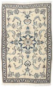 Nain Koberec 90X140 Orientální Ručně Tkaný Béžová/Tmavošedý (Vlna, Persie/Írán)