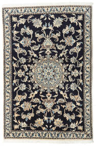 Nain Rug 90X135 Authentic Oriental Handknotted Dark Blue/Light Grey/Dark Grey (Wool, Persia/Iran)