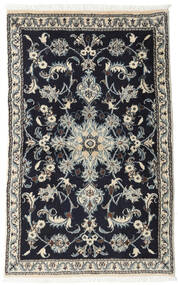 Nain Matta 86X135 Äkta Orientalisk Handknuten Svart/Ljusgrå (Ull, Persien/Iran)