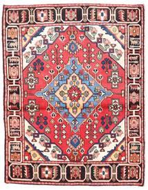 Rudbar Matto 102X138 Itämainen Käsinsolmittu Beige/Tummanruskea (Villa, Persia/Iran)