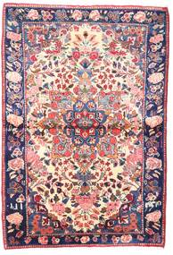 Rudbar Rug 114X166 Authentic Oriental Handknotted Beige/Dark Purple (Wool, Persia/Iran)
