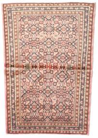 Hosseinabad Matta 102X145 Äkta Orientalisk Handknuten Ljusrosa/Ljusbrun (Ull, Persien/Iran)