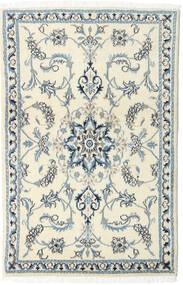 Nain Teppich  87X135 Echter Orientalischer Handgeknüpfter Beige/Hellgrau (Wolle, Persien/Iran)